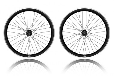 paire de roue fixie single speed Noir