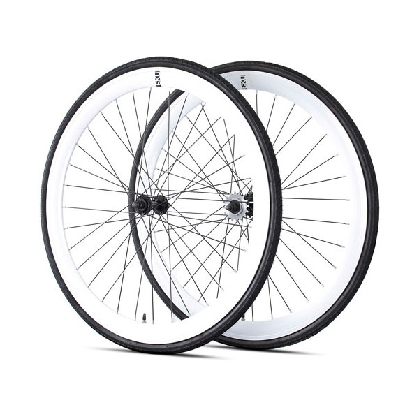 Roues fixie single speed 6ku blanches