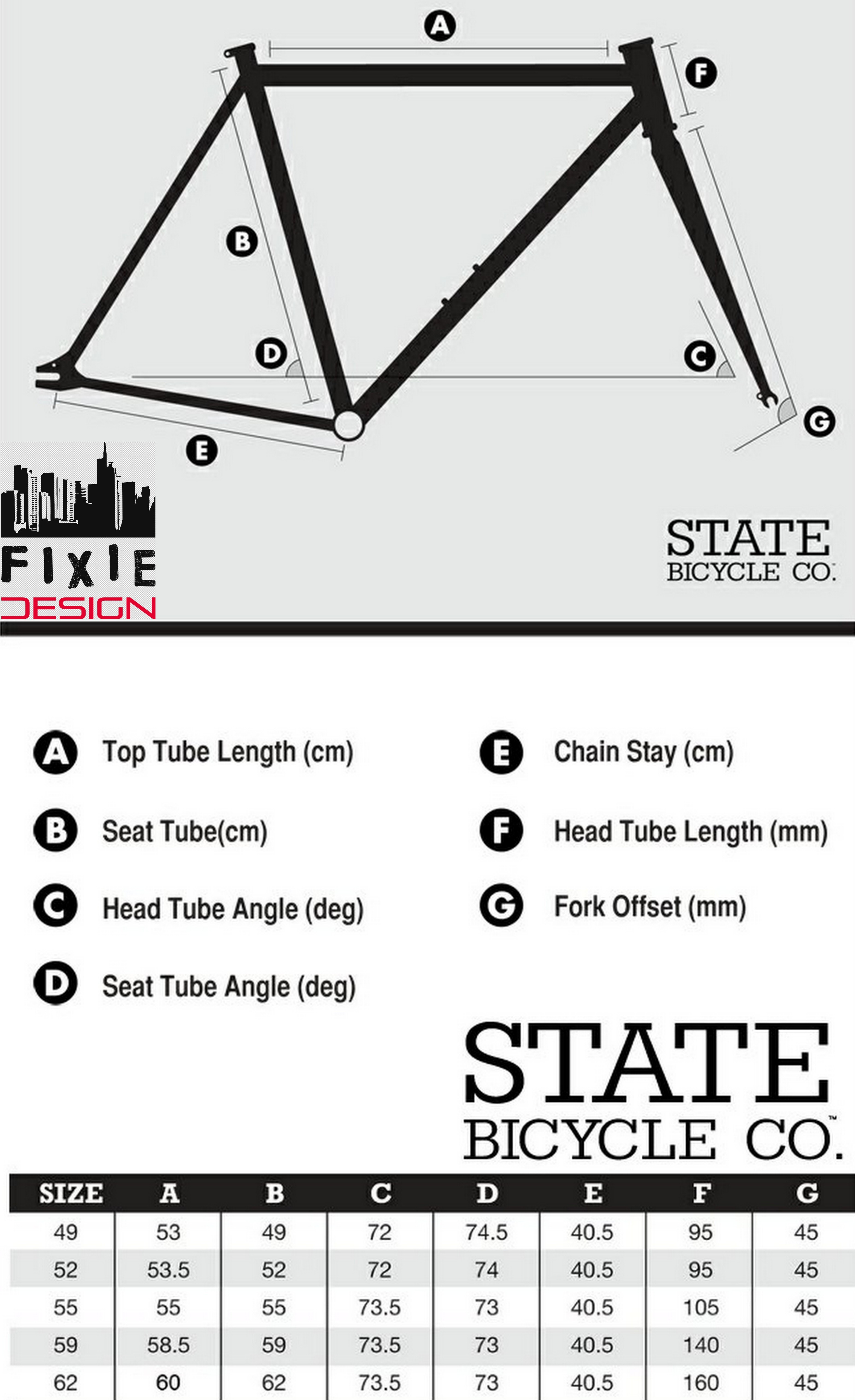 taille fixie core line