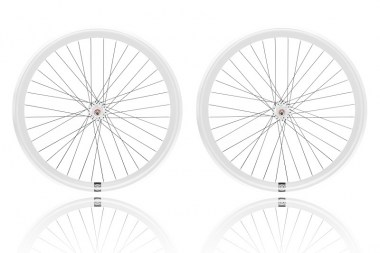 Paire de Roues Fixie singlespeed Blanches - FixieDesign